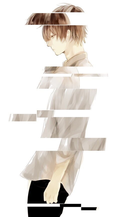 Girl Boy Couple Wallpaper Anime Anime Boy Drawing Glitch Sad Image 3691703 By
