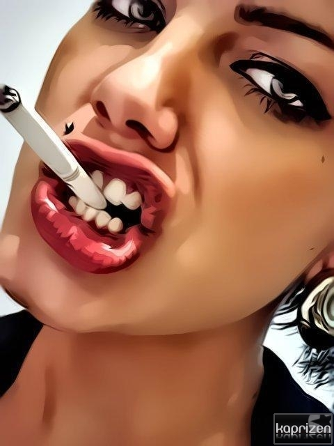Smoking Attitude Girl Wallpaper Cool Earings Girl Lipstick Makeup Image 350511 On