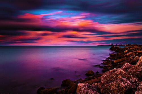 Beautiful Sad Alone Girl Wallpaper Beach Blue Hot Ocean Orange Image 409845 On Favim Com