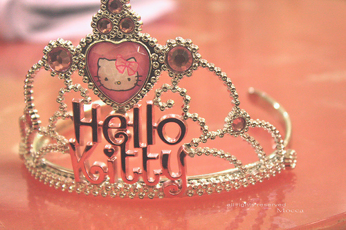 Hello Kitty Iphone 6 Wallpaper Crown Cute Girly Hello Kitty Pink Image 406993 On