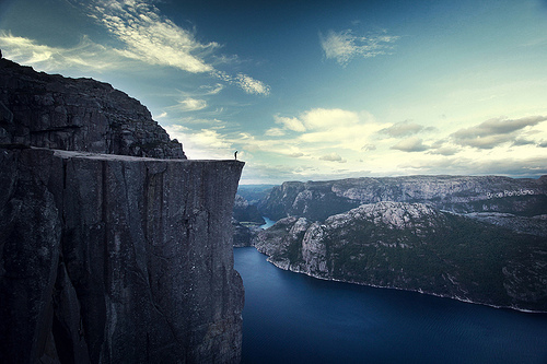 Iphone X Adidas Wallpaper Cliff Fjord High Landscape Nature Image 433335 On