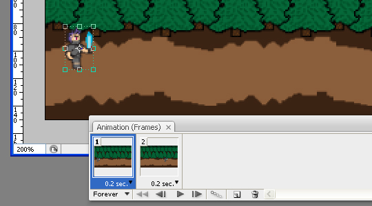 How to make an animated GIF with 8-Bit Characters Part 2 Animation