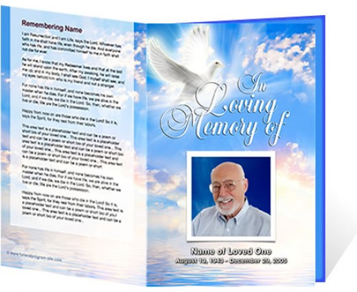 free funeral obituary programs templates - free template for funeral program
