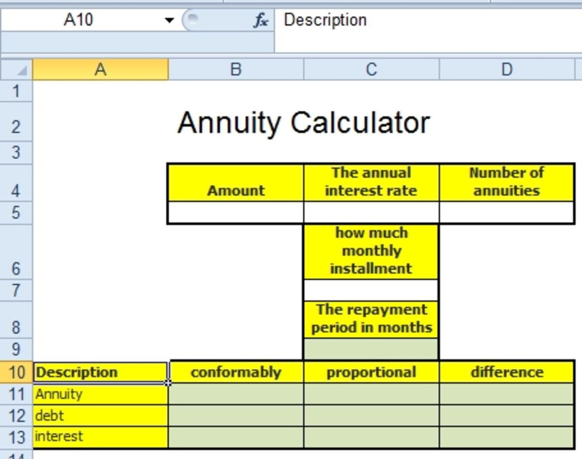 annuity factor formula