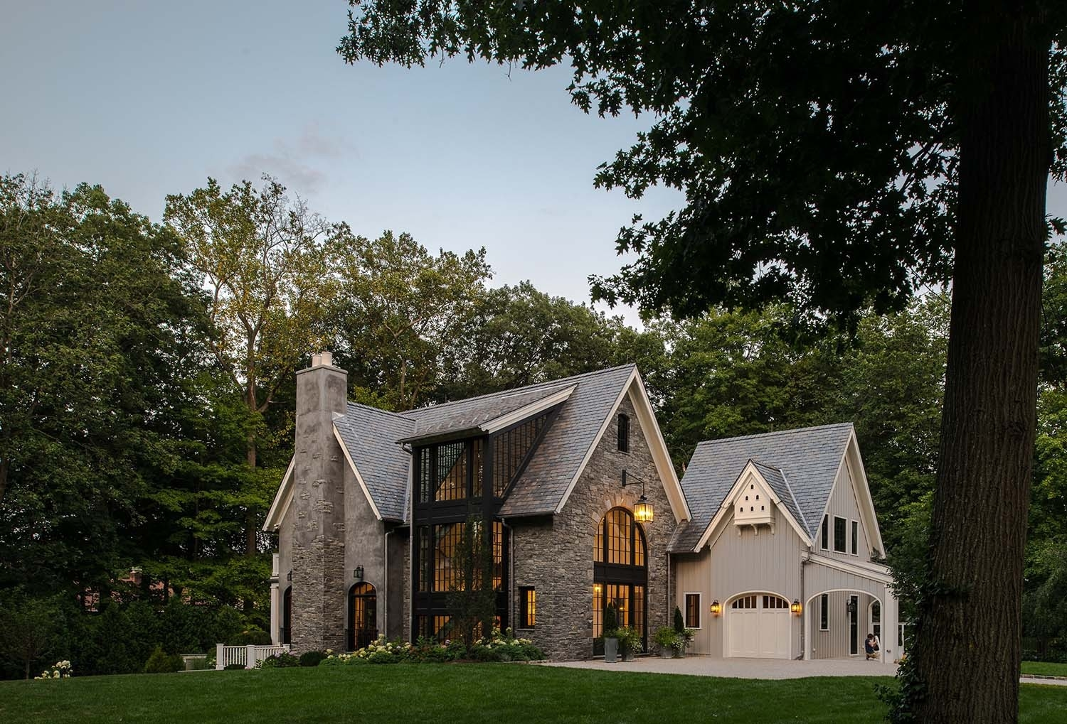 Farmhouse Architecture Features Belgian Farmhouse In New Canaan