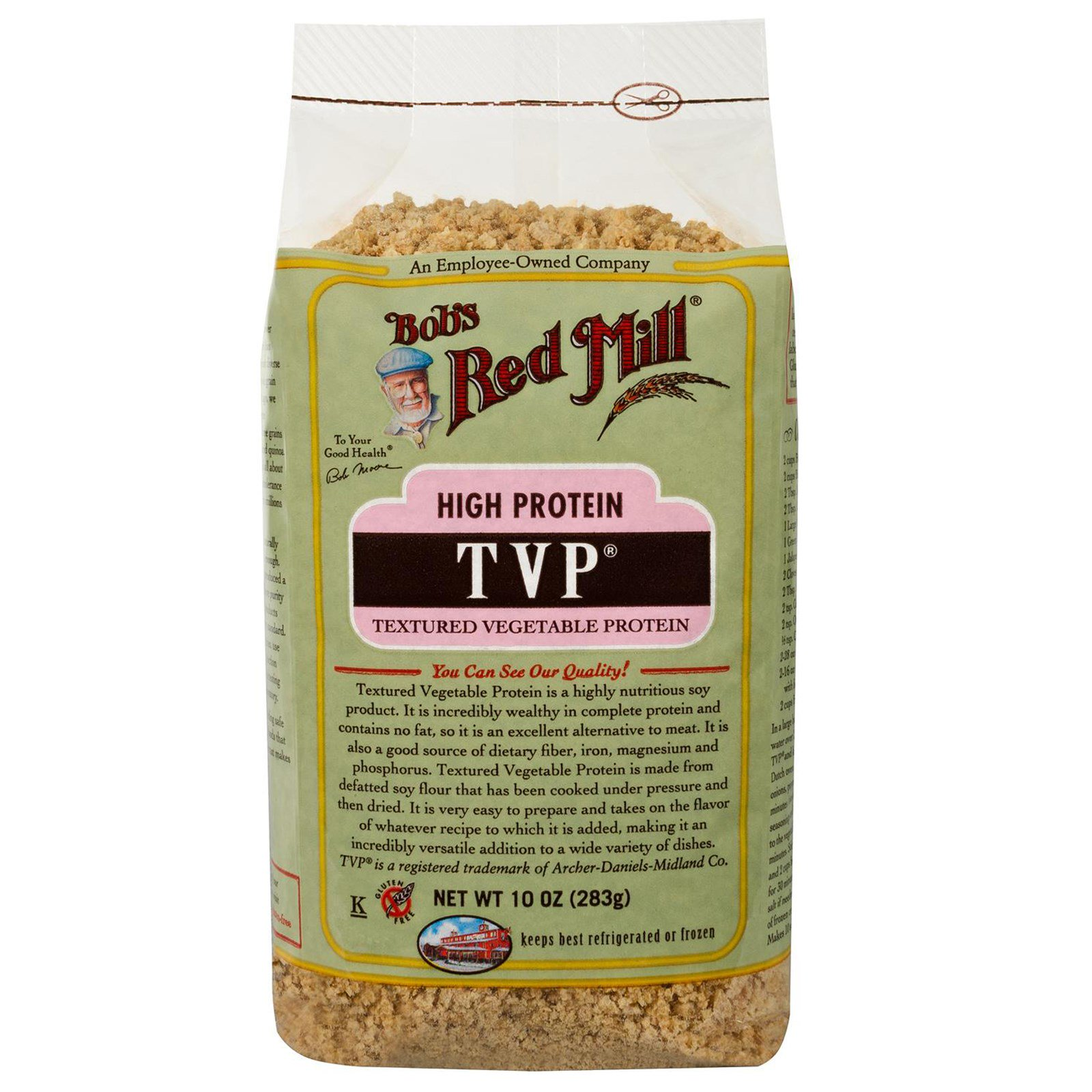 30 Liter Emmer Bob S Red Mill Tvp Textured Vegetable Protein 10 Oz 283 G