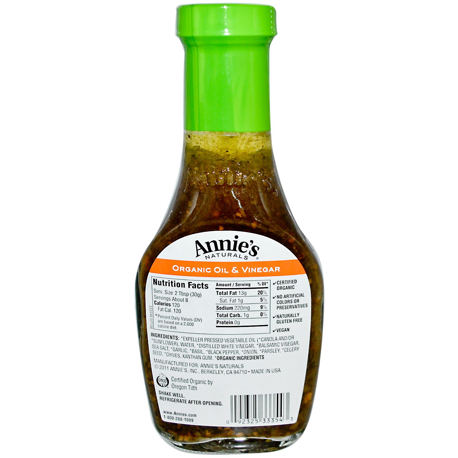 Oil And Vinegar Annie 39s Naturals Organic Oil And Vinegar With Balsamic