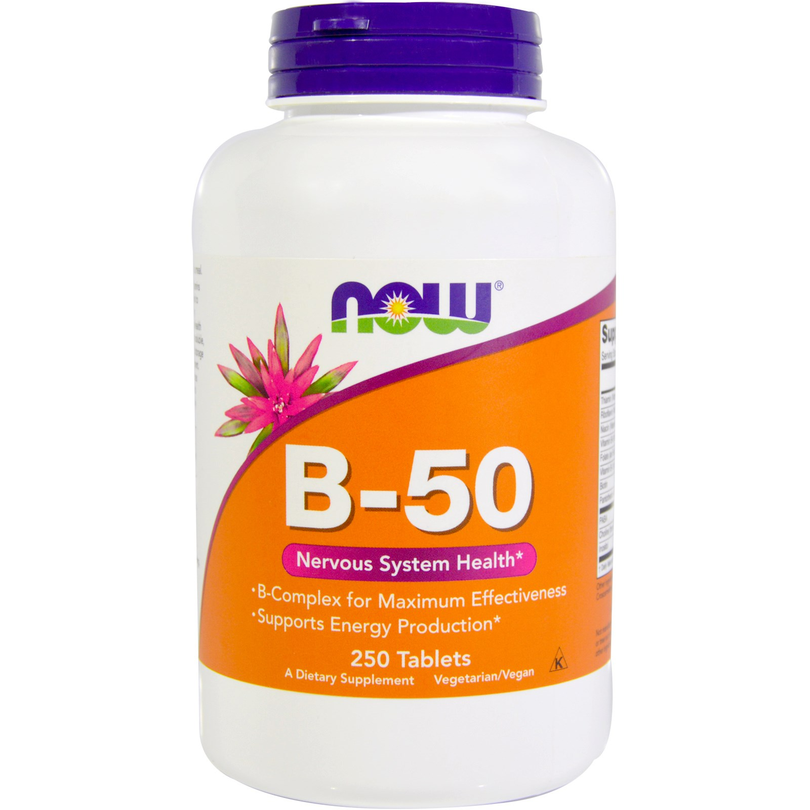 Foods Vitamin B 50 Now Foods B 50 250 Tablets Iherb