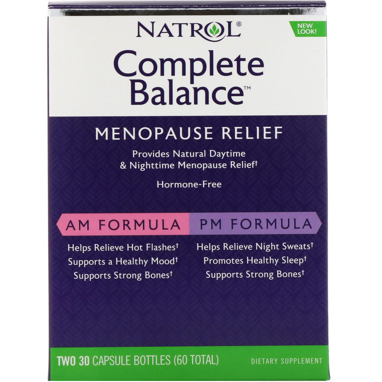 Am Pm Natrol Complete Balance Menopause Relief Am Pm Two Bottles 30