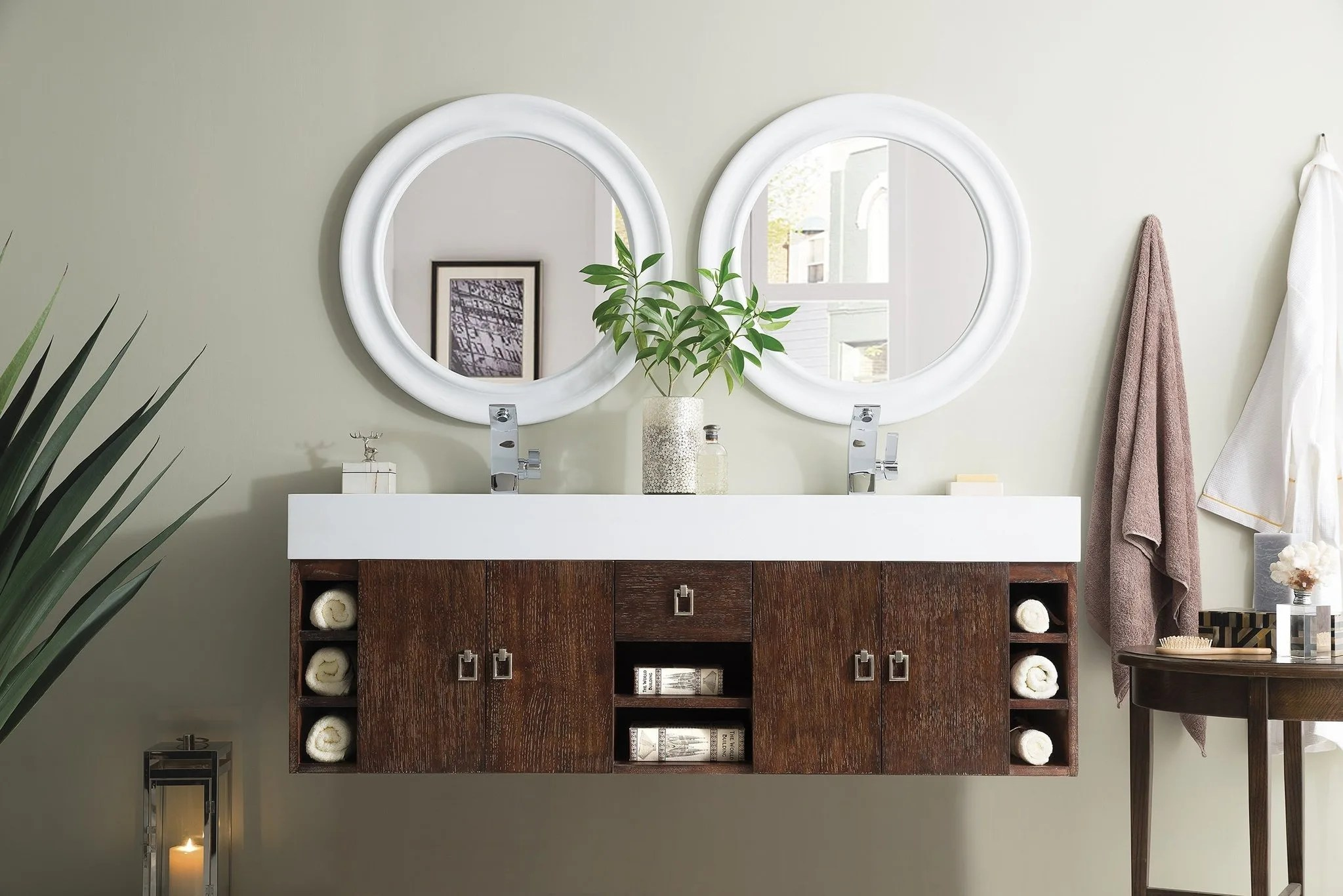 Wall Mount Double Vanity James Martin Vanities 868 V59d A