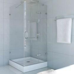 Small Crop Of Frameless Pivot Shower Door