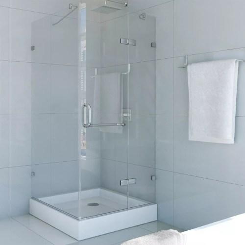 Medium Of Frameless Pivot Shower Door