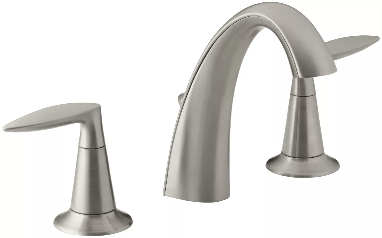 Brushed Nickel Bathroom Faucets Clearance Faucet K 45102 4 Bn In Vibrant Brushed Nickel By Kohler