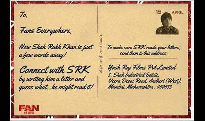 Shah Rukh Khan invites fans to write letter to him! Here\u0027s the