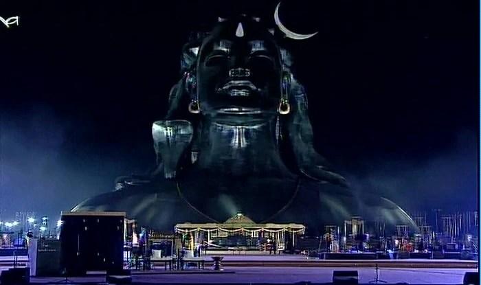 Sadhguru Wallpaper Quotes Narendra Modi Unveils The 112 Feet Shiva Statue In
