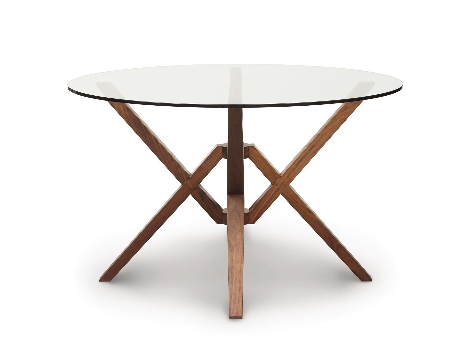 Round Glass Top Dining Table Copeland Exeter Round Glass Top Dining Table