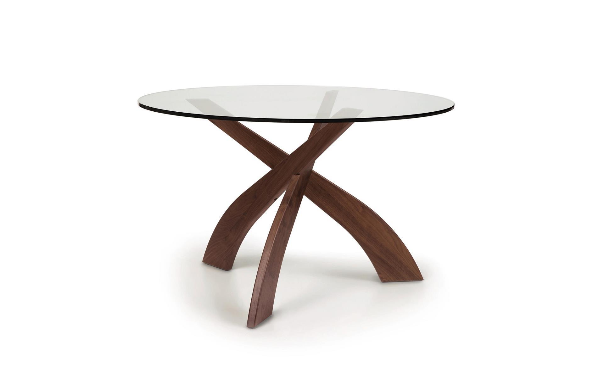 Round Glass Top Dining Table Copeland Statements Entwine Round Glass Top Dining Table