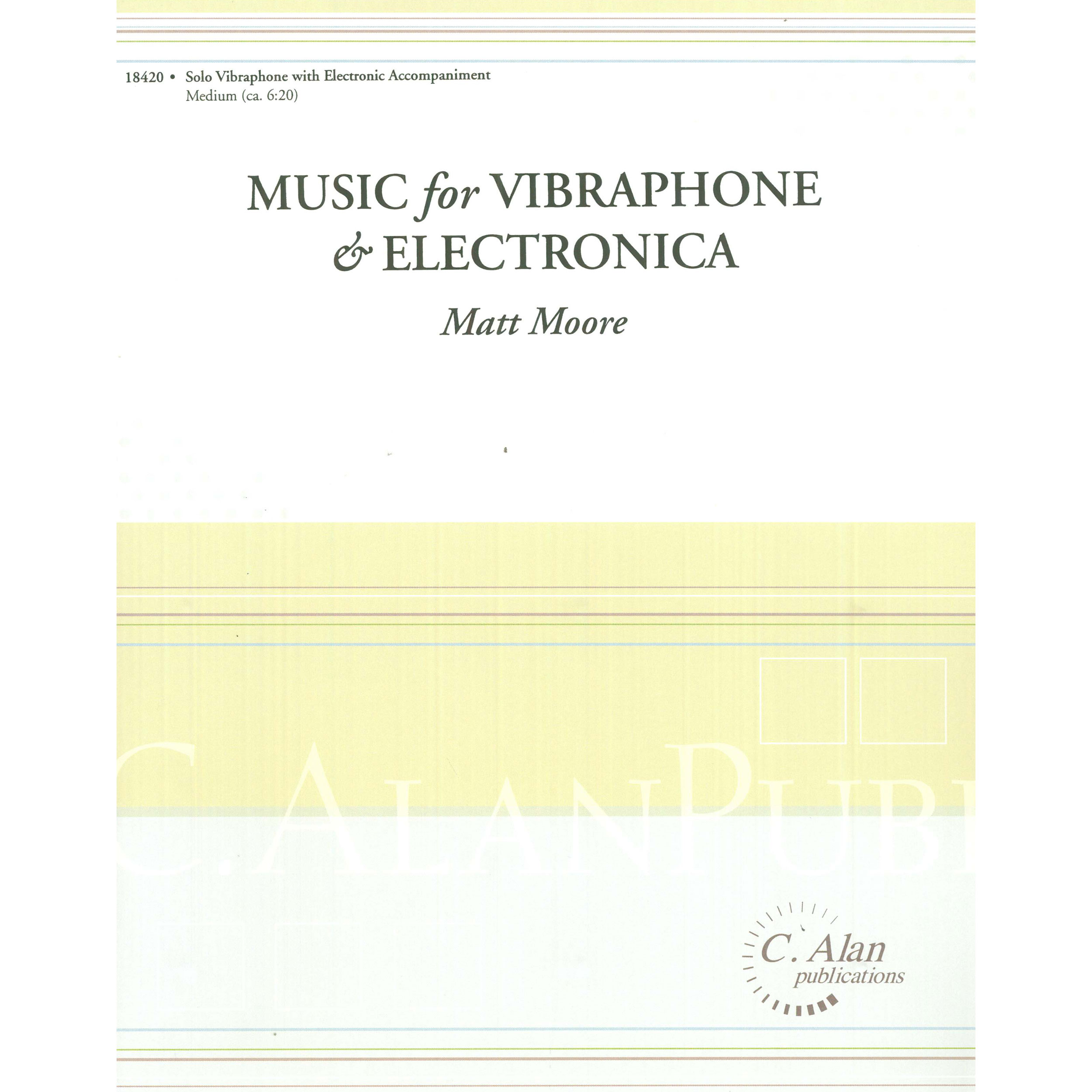 Electronica Medium Font Music For Vibraphone Electronica By Matt Moore