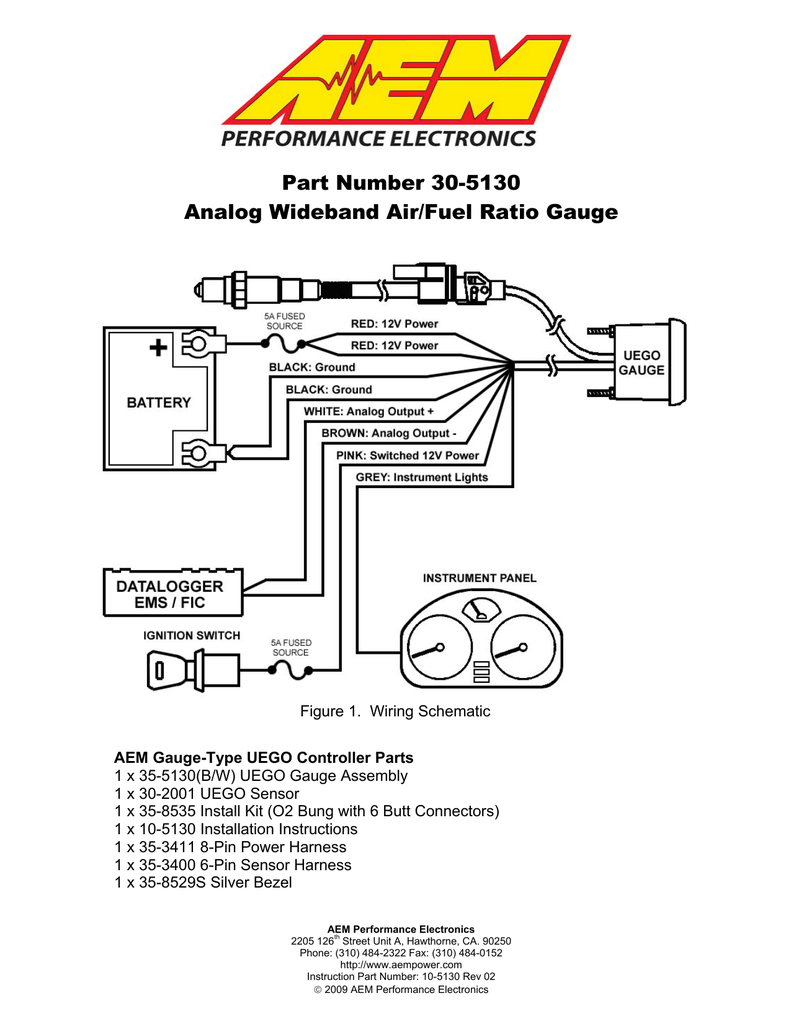 glowshift air fuel ratio gauge wiring diagram