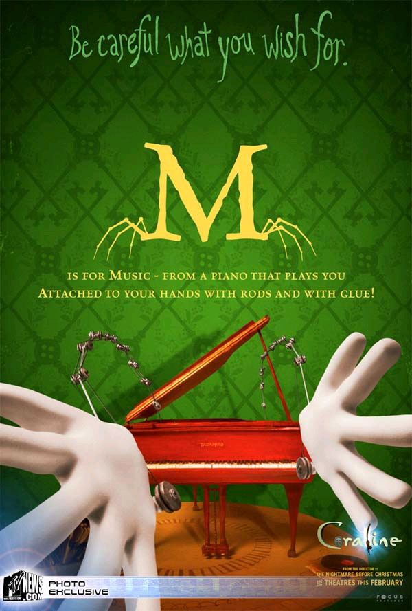 You Are My Life Quotes Wallpaper All The Coraline Alphabet Movie Posters Geektyrant
