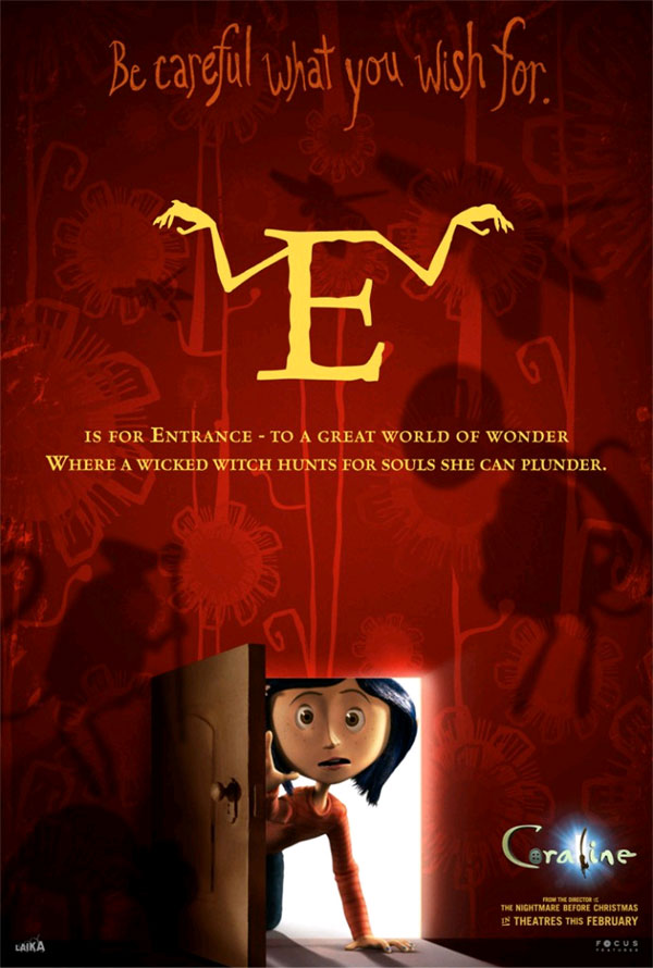 Love U Wallpapers With Quotes All The Coraline Alphabet Movie Posters Geektyrant