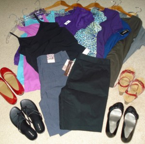 $550 in clothing and shoes bought for less than $300