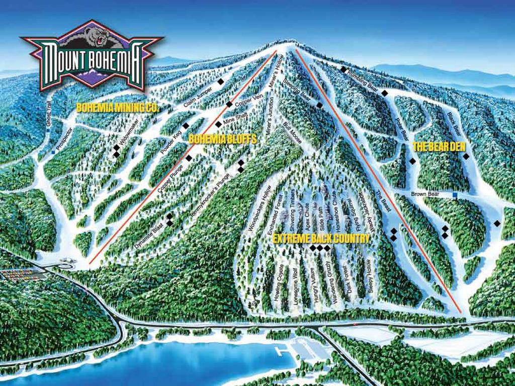 Bohemia Wallpaper 3d Mount Bohemia Trail Map Onthesnow