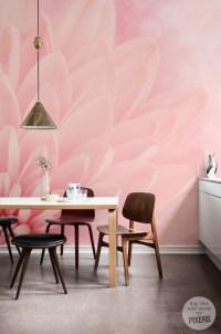 Pink chrysanthemum  Retro - Living room  Pixers  We ...