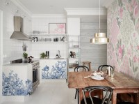 Blossoming kitchen  Kitchen - Shabby Chic - Wall Murals ...