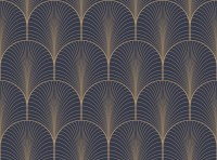 Vintage tan blue and brown seamless art deco wallpaper ...