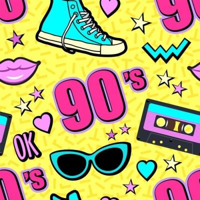 Vector neon pop background 80s, 90s Wallpaper • Pixers® • We live to change