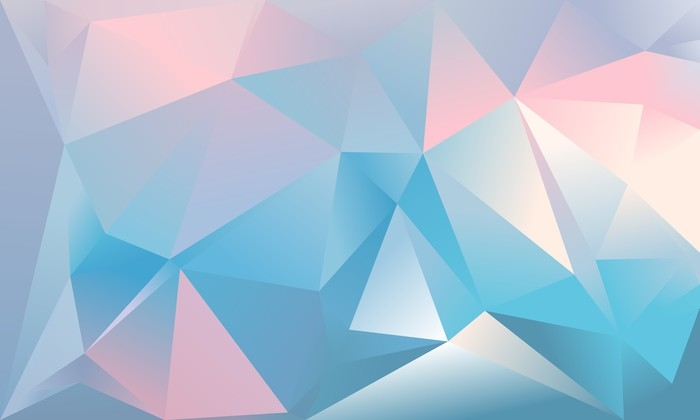 Abstract triangle background Light blue, pink and white colour