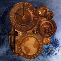 steampunk Wall Mural  Pixers  We live to change