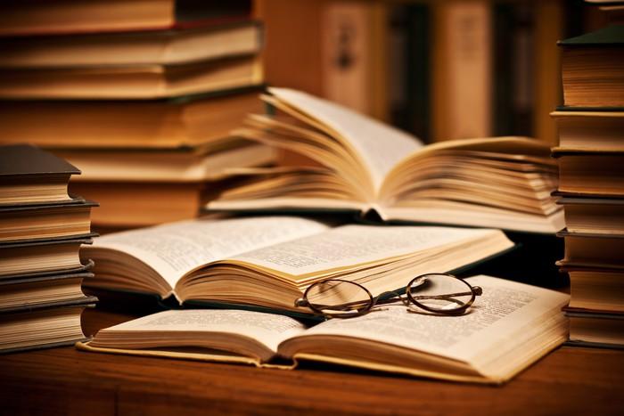 opened book, lying on the bookshelf Sticker \u2022 Pixers® \u2022 We live to - opened book