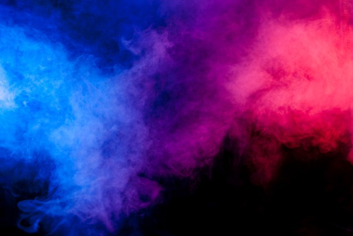 Red and blue smoke on black background Sticker \u2022 Pixers® \u2022 We live