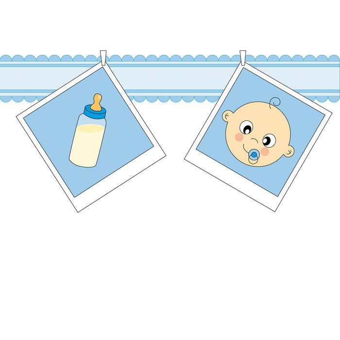 Tarjeta nacimiento bebé niño Wall Mural \u2022 Pixers® \u2022 We live to change
