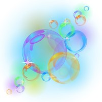 Abstract bubble vector background Wall Mural  Pixers ...