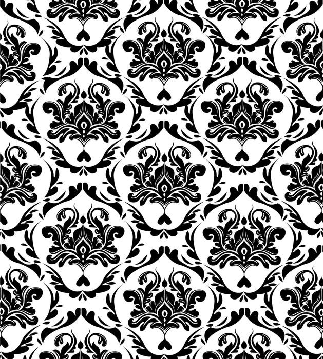 3d Damask Wallpaper Elegant Seamless Pattern Wall Mural Pixers 174 We Live To