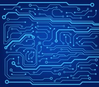 abstract technology circuit board vector background Wall ...