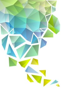 abstract polygon background, vector Wall Mural  Pixers ...