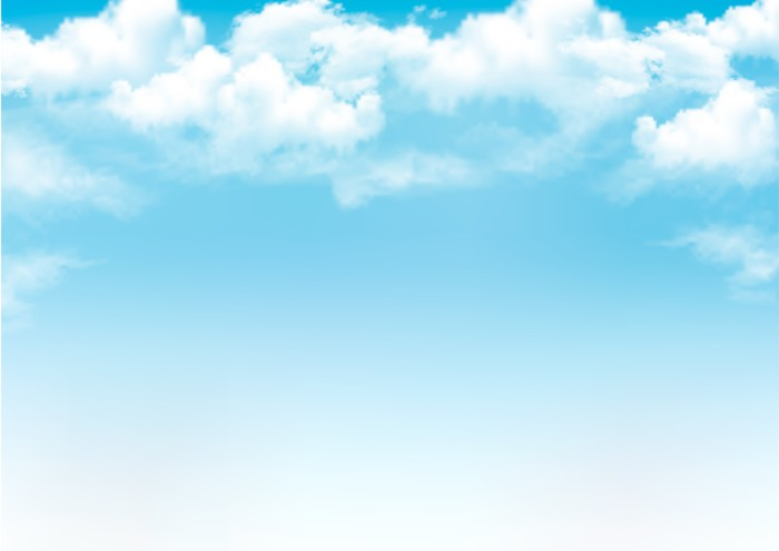 Vinilo Pixerstick Cielo azul con nubes Vector de fondo \u2022 Pixers - fondo nubes