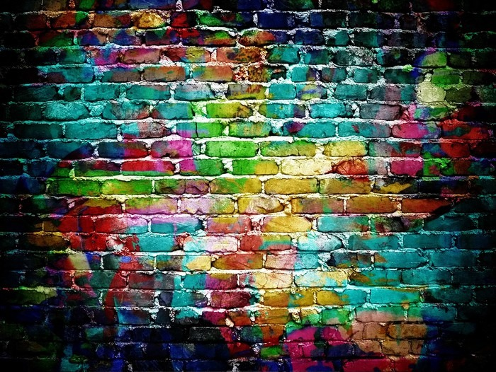 Vinyl Castorama Graffiti Brick Wall Wall Mural • Pixers® • We Live To Change