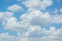 white clouds on blue sky Wall Mural  Pixers  We live to ...