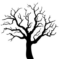 Tree silhouette Wall Mural  Pixers  We live to change
