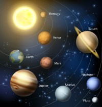 Solar system planets Wall Mural  Pixers  We live to change