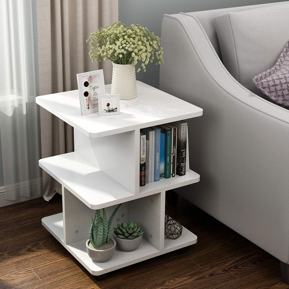 Storage Table On Wheels Little Tree Modern End Table With Wheels Storage