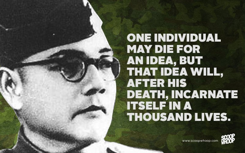 Famous Patriotic Quotes Wallpapers 15 Quotes By Subhash Chandra Bose That Will Bring Out The