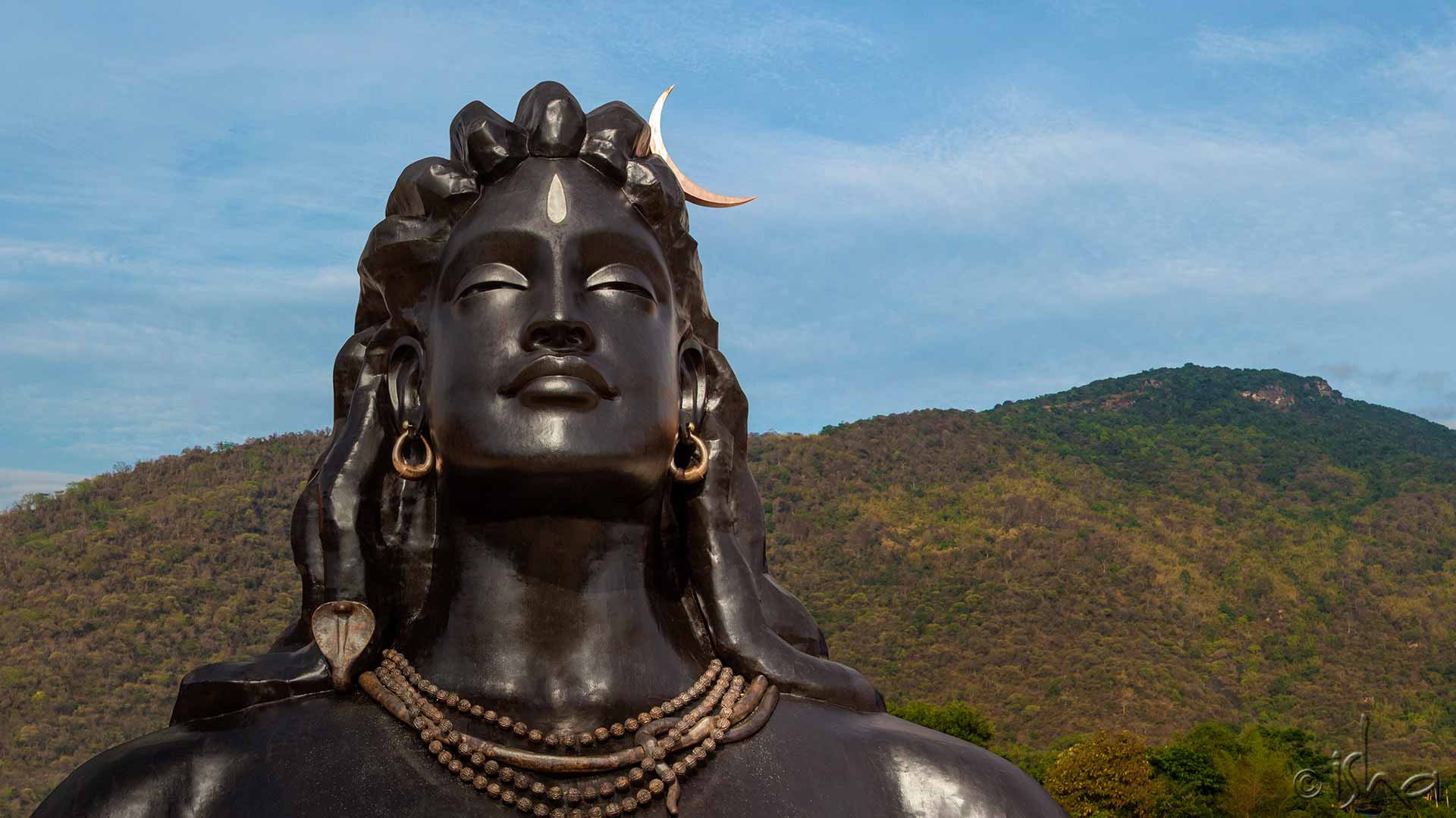 Lord Shiva Lingam Wallpapers 3d 112 Feet Tall Adiyogi Shiva Bust In Tamil Nadu Enters