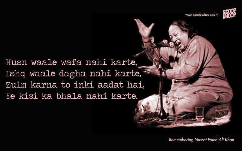 Sad Wallpaper With Quotes In Urdu 15 Nusrat Fateh Ali Khan Qawwalis That Are Sure To Give
