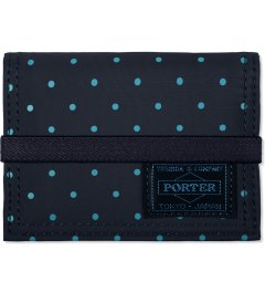 Head Porter Navy Dot Band Card Case Picutre